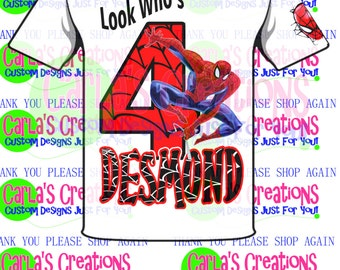 Spiderman Inspired Custom T-shirt