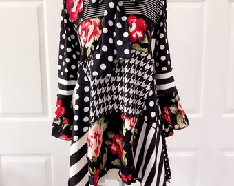 Patchwork One of a Kind top