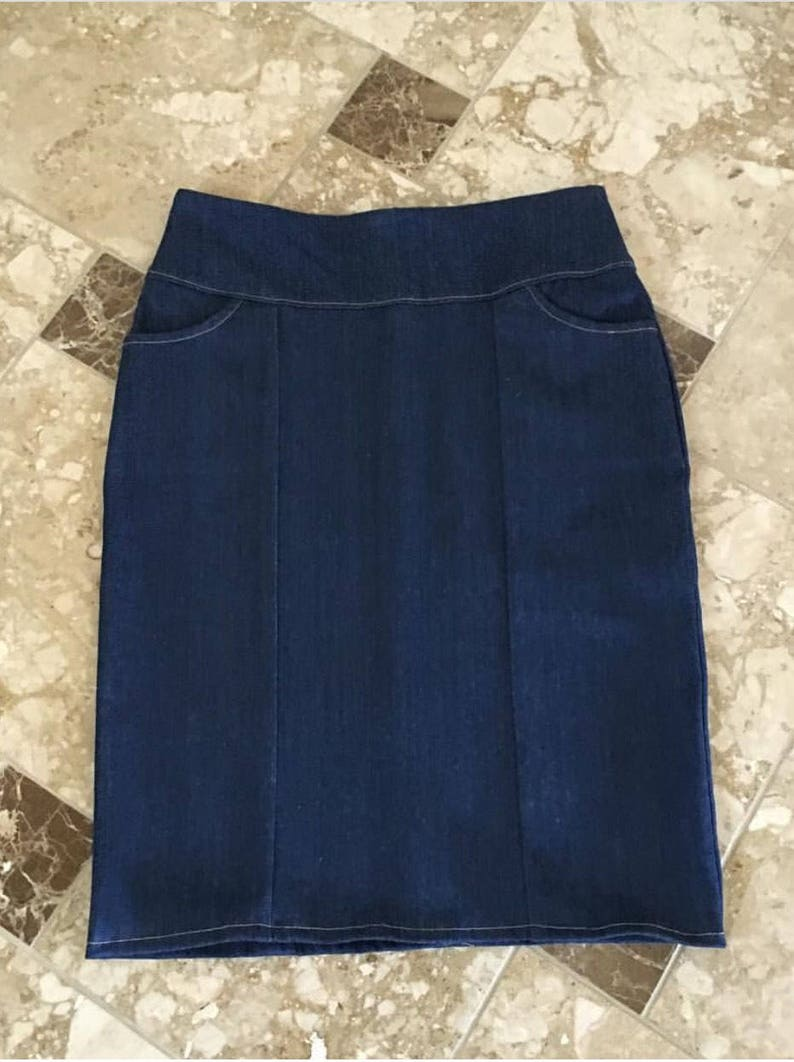 5c6b84da0c Jean Skirts Modest Skirt Denim Skirts | Etsy