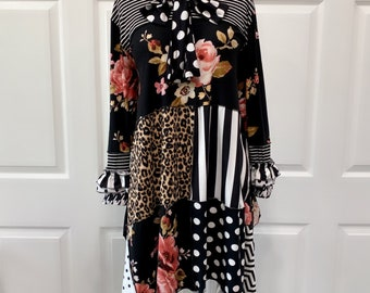 One of a kind tunic top, Patchwork top