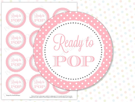 Ready To Pop Sticker Pink INSTANT DOWNLOAD