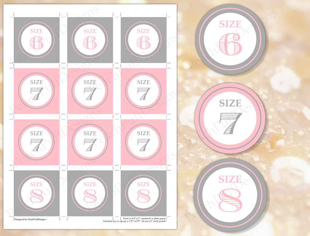 313ba98ac Flip flop tags Pink and Gray INSTANT DOWNLOAD Flip flop