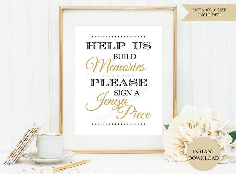 ebcbad2143311 Jenga guest book sign (INSTANT DOWNLOAD) - Jenga wedding sign - Wedding  Jenga - Wedding guest book alternative SB001