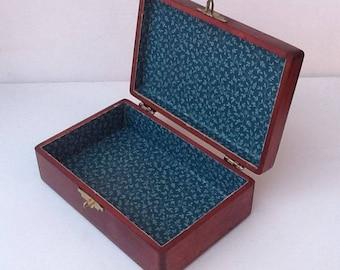 Vintage Wood Storage Box / Wooden Trinket Container / Pretty Jewelry Box & Pretty storage boxes | Etsy
