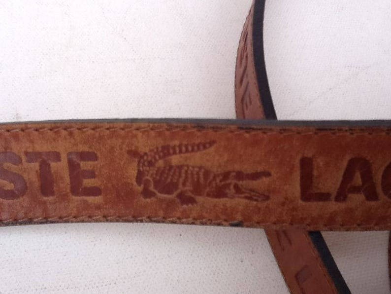 50f7a93092521b Vintage Leather Belt   Lacoste Leather Belt   Lacoste and