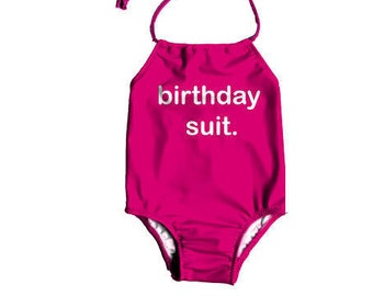 1adef12fd6 Girls One Piece Swimsuit ~ Toddlers Birthday Swimsuit ~ Birthday Bathing  Suit ~ Toddler Girl Birthday Suit Swimsuit ~ Size 12M to 7T