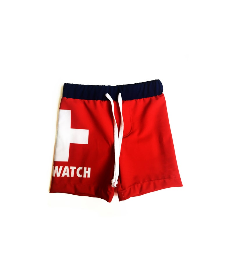 38974494ef Toddler Boy Boardshorts Kids Swim Shorts Boys Lifeguard | Etsy