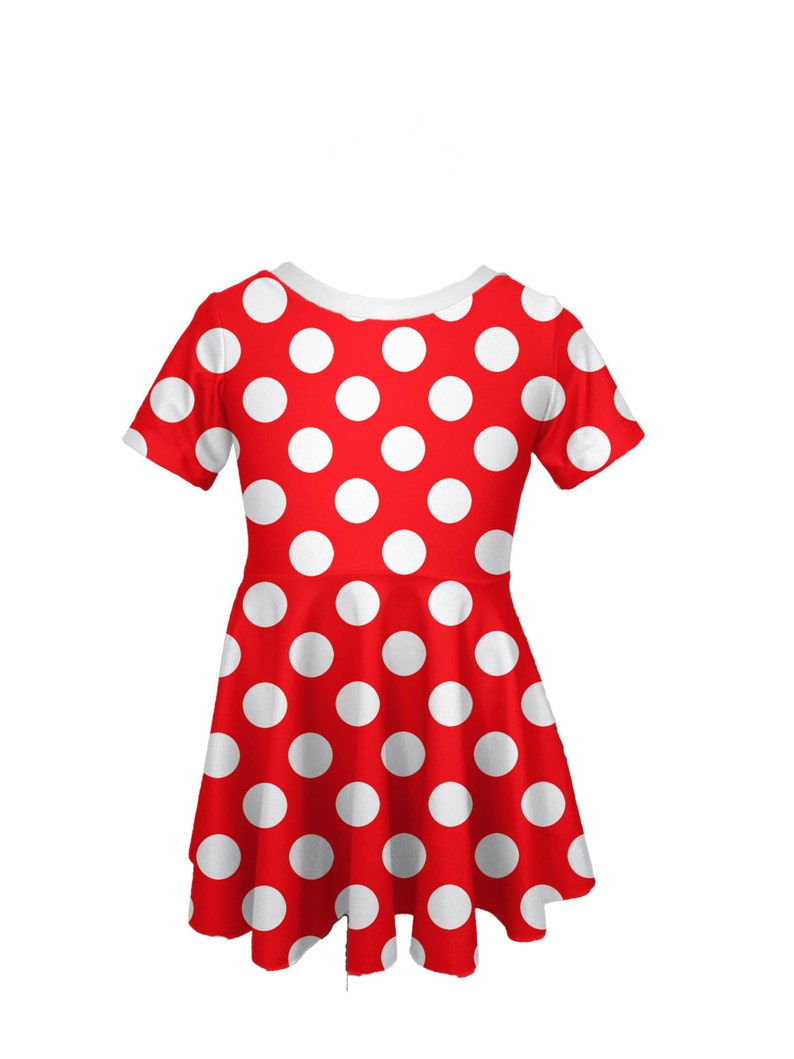 Red White Polka Dot Dress Baby Girl Minnie Polka Dot Dress Etsy