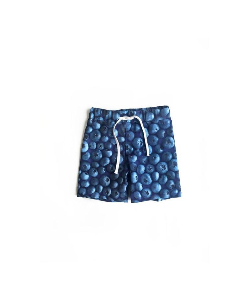 Blueberry Shorts Kids Boy Swim Shorts Kids Summer Shorts Toddler Boy Boardshorts Boys Swimsuit Boardshorts