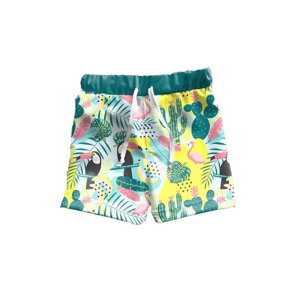 Toddler Boy Boardshorts Kids Boy Swim Shorts Boys Cactus | Etsy