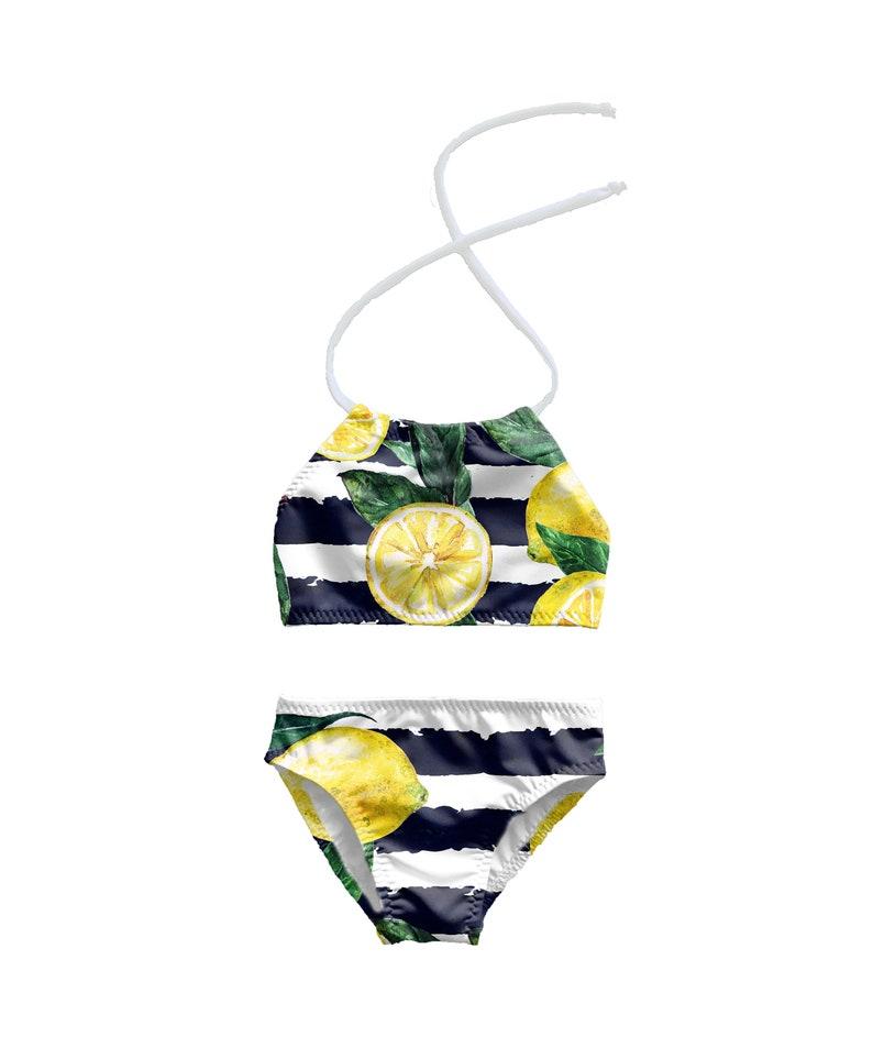 0607859588 Girls Bikini Swimsuit Toddlers Halter Bathing Suit Toddler | Etsy