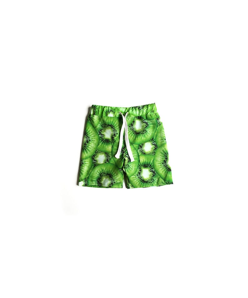 Kids Summer Shorts Green Kiwi Shorts Boys Swimsuit Boardshorts Toddler Boy Boardshorts Kids Boy Swim Shorts