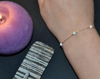 mini opal ball bracelet