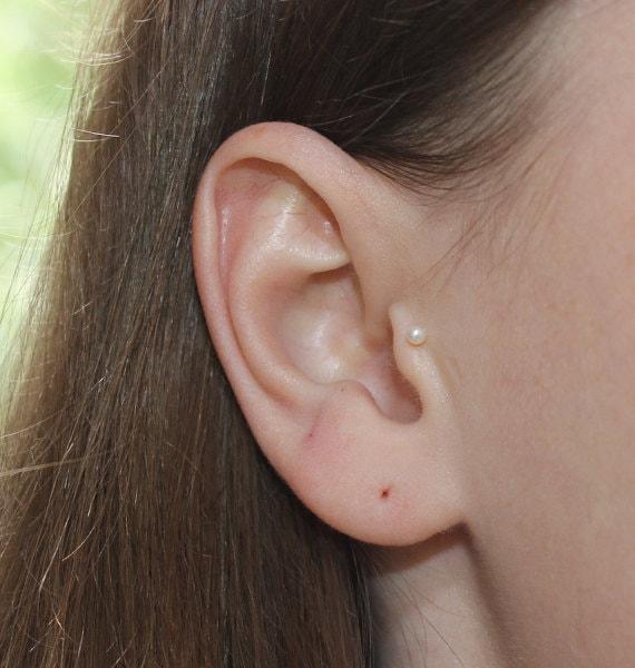 Bijoux D Oreille Cartilage tragus piercing clou en or boucle doreille tragus 18g   etsy