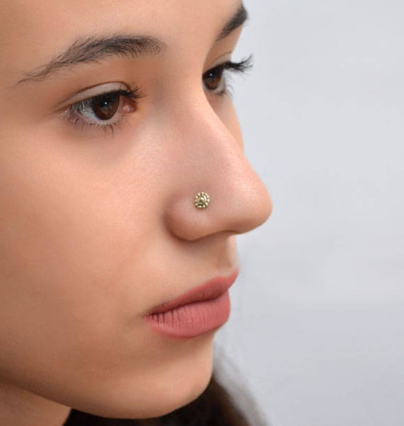 Nose ring Dainty stud earring Nose piercing jewelry Nostril stud Nose ring 20g Nose Stud Gold nose ring stud