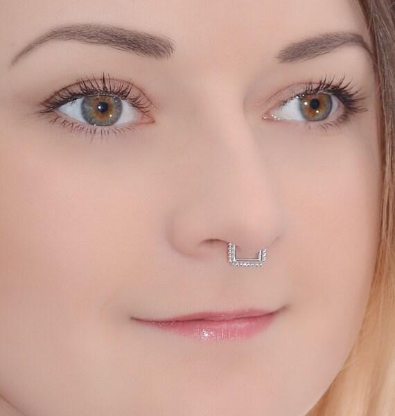 Daith earring Daith hoop Septum Earring Septum ring Nipple ring Nipple hoop Daith jewelry ring Septum piercing ring 14g