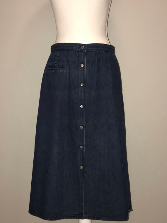 Vintage 90's A Line Denim Skirt / size 14 / by Li… - image 1