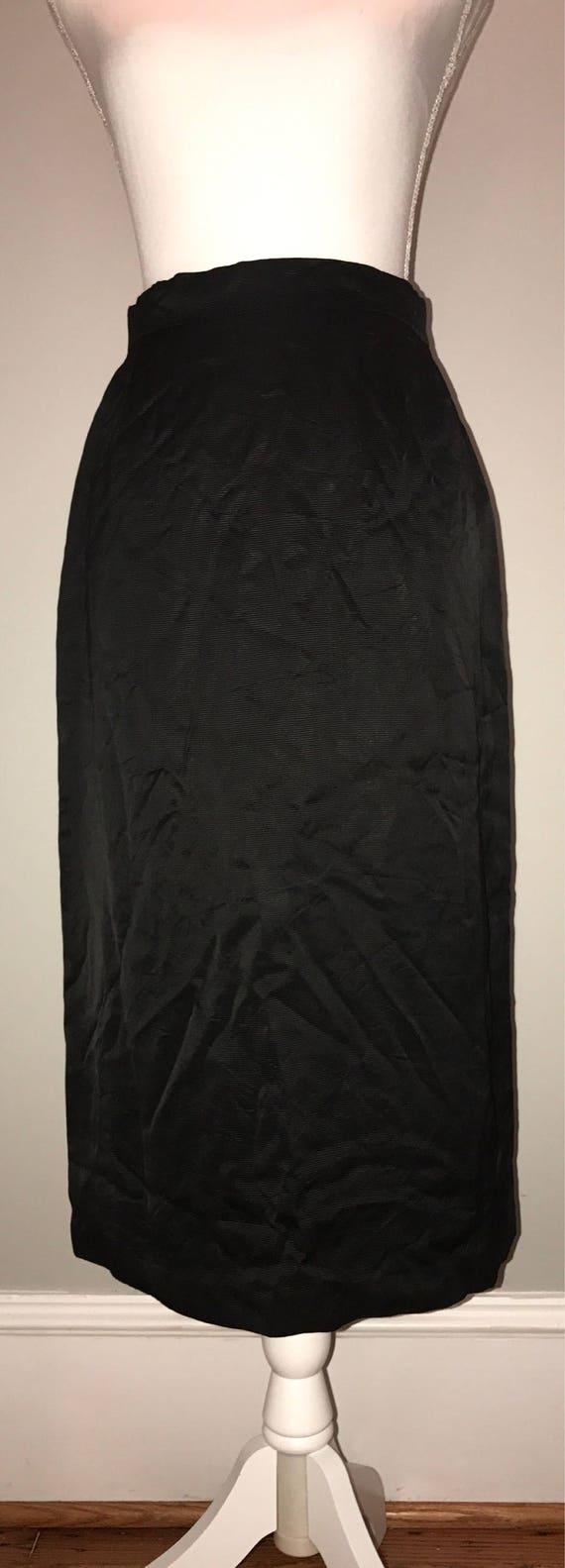 Vintage 80's Black Pencil Skirt / size 36 (US 6) /