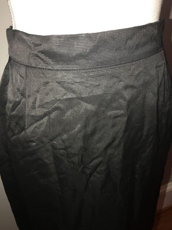 Vintage 80's Black Pencil Skirt / size 36 (US 6) … - image 2