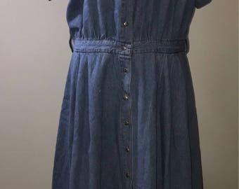 Vintage 80's NWT Denim Dress / size 16 / by Together