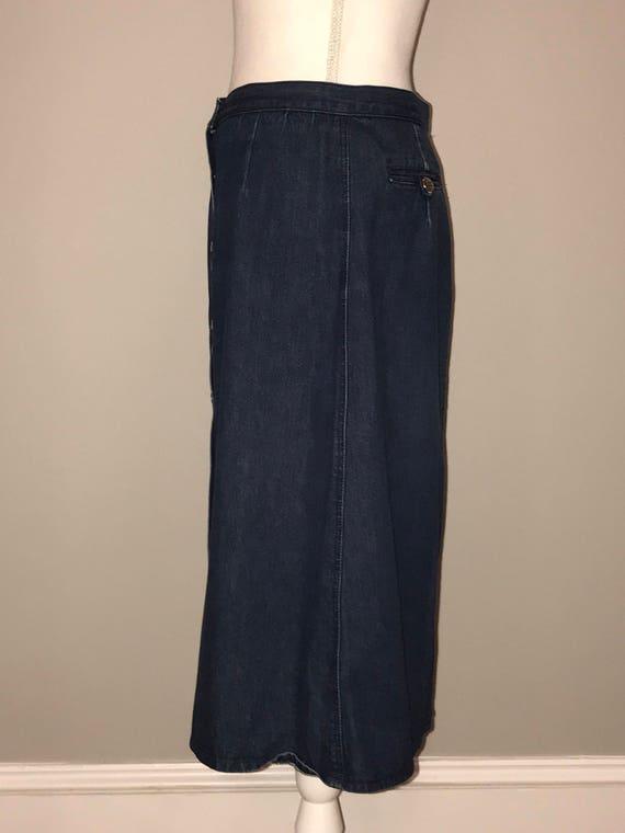 Vintage 90's A Line Denim Skirt / size 14 / by Li… - image 3