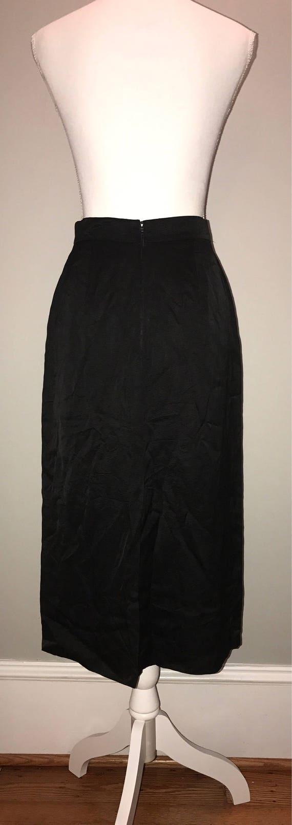 Vintage 80's Black Pencil Skirt / size 36 (US 6) … - image 4