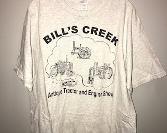 Vintage Bill's Creek Antique Tractor and Engine Show T-shirt / size XL