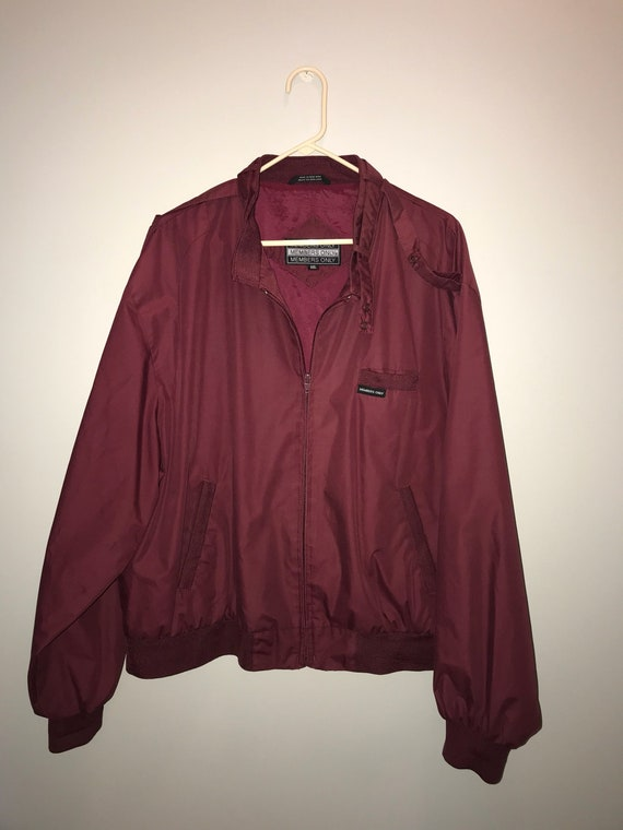 Vintage 80 S Maroon Members Only Jacket Size Xxl By Etsy