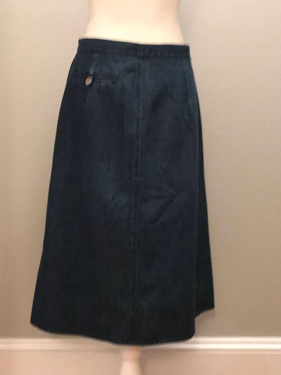 Vintage 90's A Line Denim Skirt / size 14 / by Li… - image 4