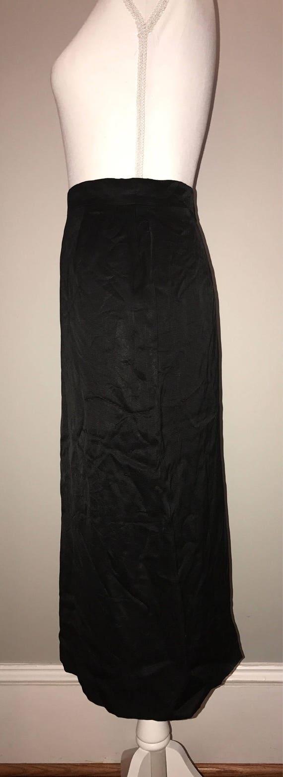 Vintage 80's Black Pencil Skirt / size 36 (US 6) … - image 3