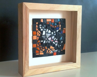 Mosaic picture frame wood - series 1 SUNLIGHT