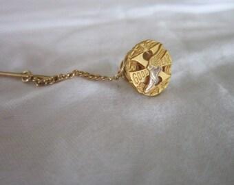 Wonderful Vintage 10 K Gold Filled Goodyear Corp Advertising Pinback