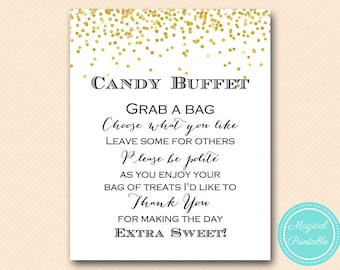 Admirable Candy Buffet Sign Etsy Home Interior And Landscaping Eliaenasavecom