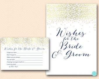 navy gold bridal shower wishes for the bride and groom bridal shower activities bridal shower game bridal shower games download bs472n