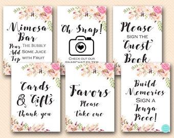 boho floral bridal shower table signs bridal shower signs printable decors decoration signs favors sign oh snap sign bs546 tlc546
