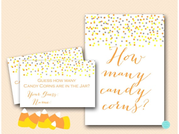 Halloween Candy Corns Guessing Game Printable Guess how many
