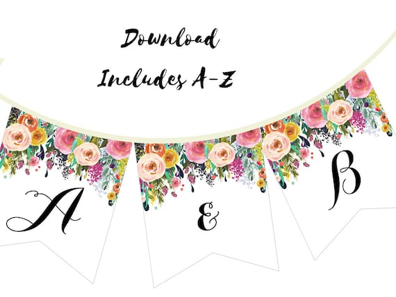 picture about Printable Bridal Shower Signs titled Printable Bridal Shower Banner, Floral Banner, Floral Marriage Banner, Floral Youngster Shower Banner BS402 TLC402 TLC140 bs138 BP138