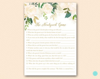 Bluff Bridal Shower Games, The Newlywed Game, How well does the Bride know Groom, Bridal Shower Game, Bridal Shower Games Download BS530P
