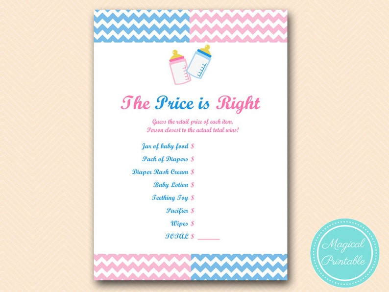 photo about Gender Reveal Games Printable identified as Selling price is instantly, youngster product or service rate tag video game, Gender make clear occasion Game titles Printable, Child Shower Routines, Down load TLC119