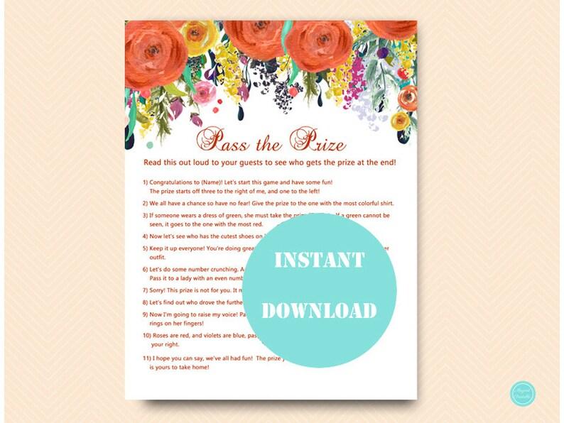 334ab3c9f457 Pass the Prize Pass the Parcel Game Poem Autumn Bridal