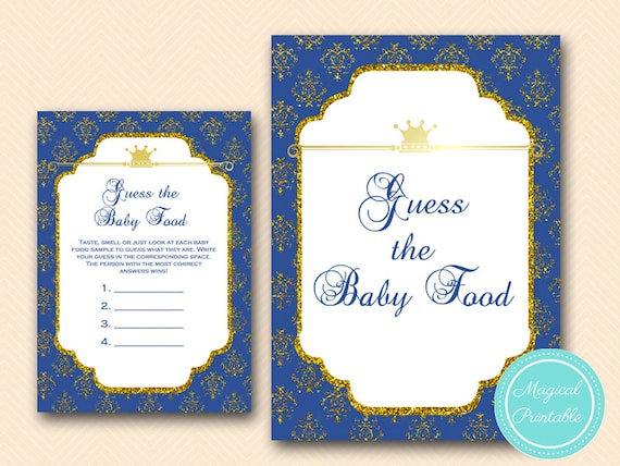 Baby Shower Games Baby Food Guessing Game E02 DIY Printing What/'s in Your Phone Game Prince Baby Shower Games Price Is Right