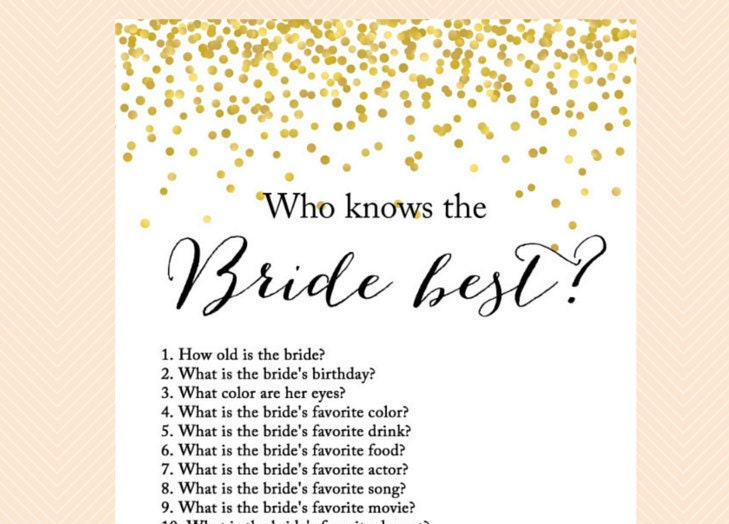 who knows the bride best how well do you know the bride