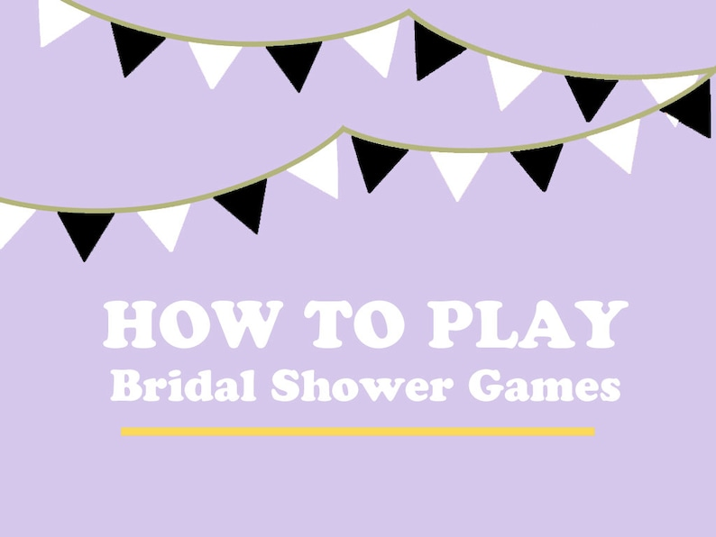 Instructions on How to Play Bridal Shower Games & Activities image 0