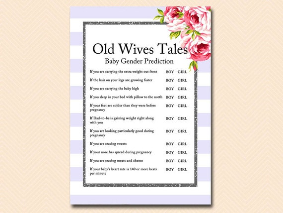 Old wives tales about predicting the sex of a baby