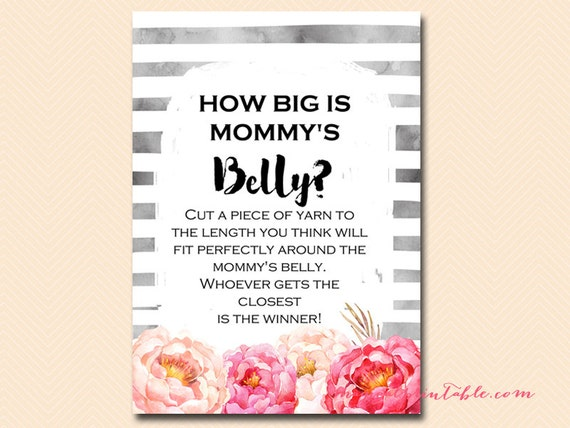 How Big Is Mommy S Belly Guess The Size Of Mommy S Etsy