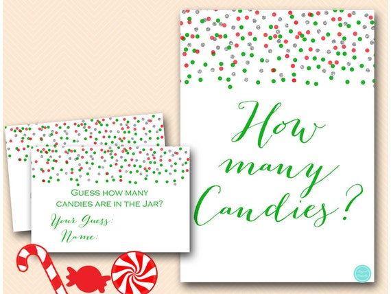 Christmas Candy Guessing Game Printable Guess How Many Candies In Jar Christmas Game Christmas Activity Bs468 By Baby Shower Ideas 4u Catch My Party