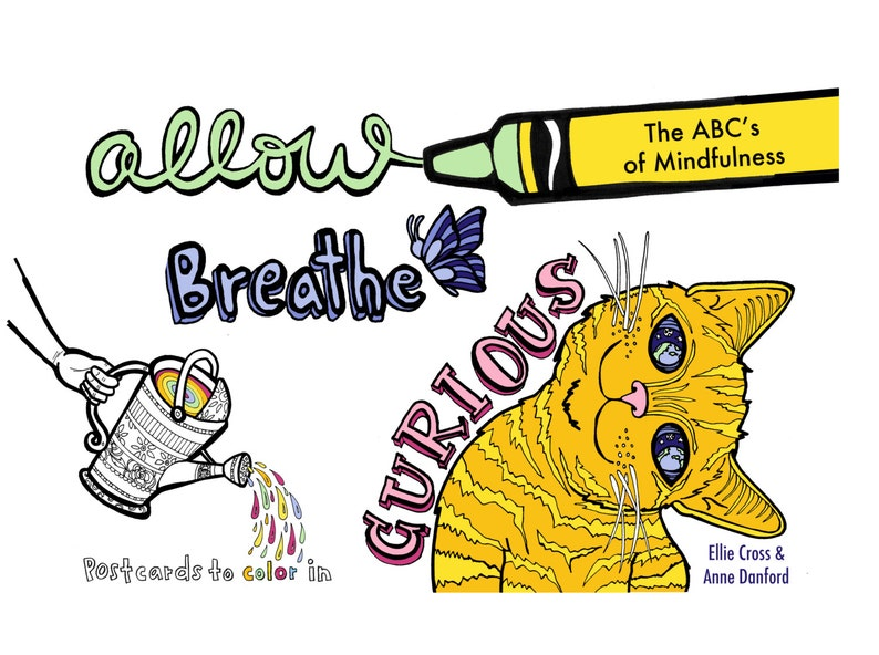Allow Breathe Curious: Postcards to Color In image 0