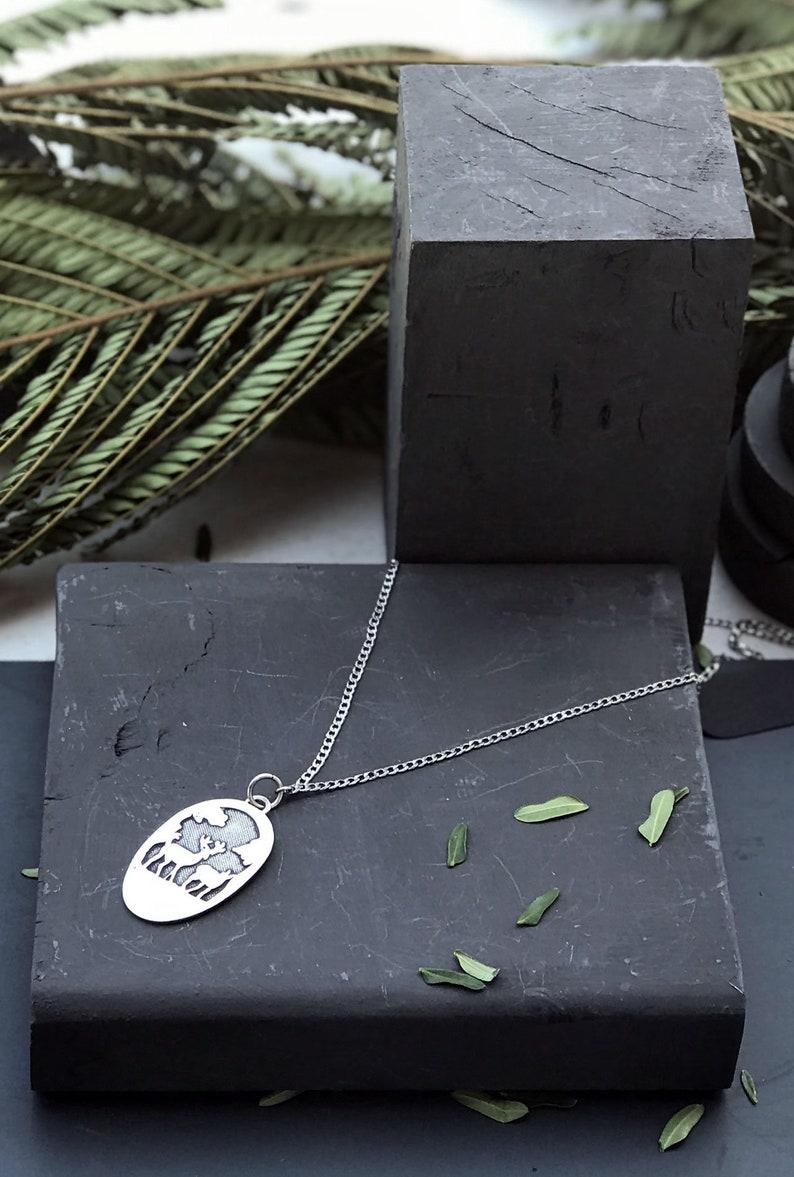 Silver Deer Necklace Cute Winter Engraved Deer Pendant Unisex Animal Lovers Jewelry