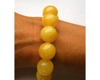 Amber bracelet,   amberstone, yellow, polished,  modern, gift, woman, genuine amberstone, NEW, UNIQUE Handmade