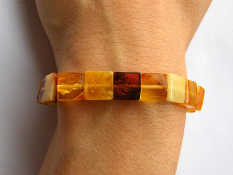 giftbox for she butterscotch yellow genuine amberstone UNIQUE Handmade gift NEW Amber bracelet polished matt